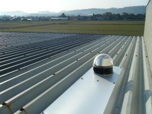 スカイライトチューブ 折板 板金屋根 (1)